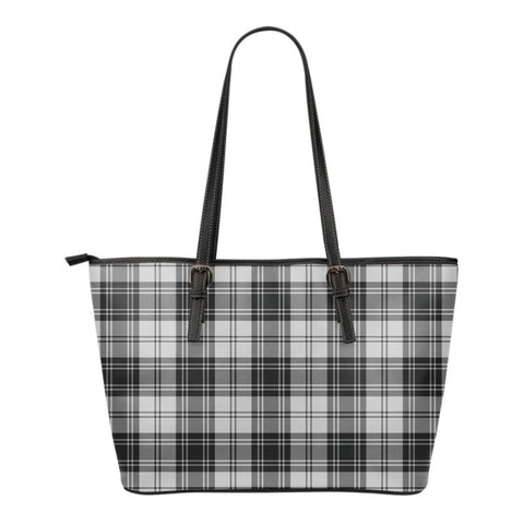 Douglas Grey Modern  Tartan Handbag - Tartan Small Leather Tote Bag Nn5 |Bags| Love The World