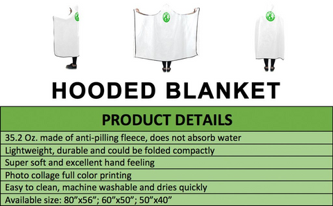 England World Cup Hooded Blanket 01 - Bn03 | Love The World