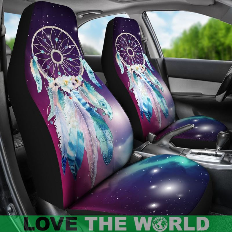 Simasoo Car Seat Cover Comfortable Seats Only Full Set of 2,Lovely Dreamcatcher Universal Auto Front Seats for Most Car SUV Sedan /& Truck