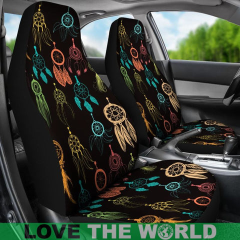 Image of dream catcher colorful, dream catcher seat covers, car seat covers, native american