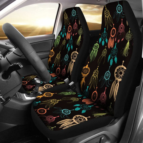 dream catcher colorful, dream catcher seat covers, car seat covers, native american