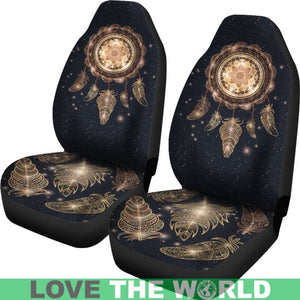 Dreamcatcher With Magic And Feathers Car Seat Covers K5
