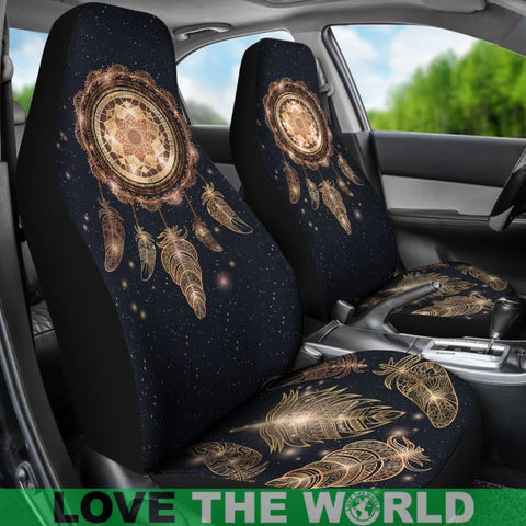 Image of Dreamcatcher With Magic And Feathers Car Seat Covers C1