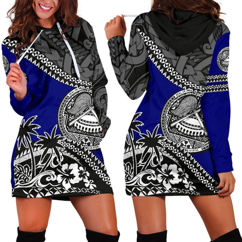 American Samoa Hoodie Dress Fall In The Wave 1