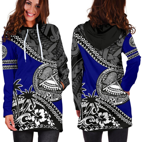 American Samoa Hoodie Dress Fall In The Wave 2