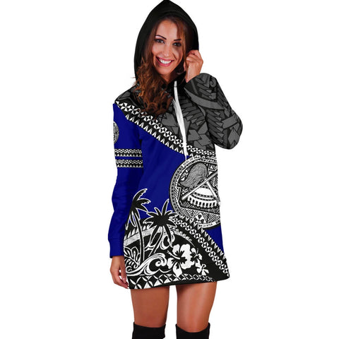 American Samoa Hoodie Dress Fall In The Wave 3