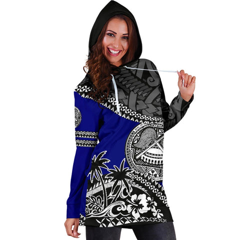 American Samoa Hoodie Dress Fall In The Wave 4