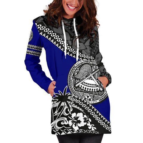 American Samoa Hoodie Dress Fall In The Wave 5