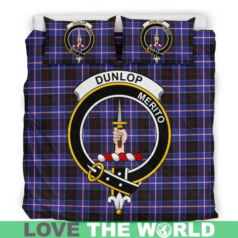 Dunlop Modern Tartan Clan Badge Bedding Set Th1 Bedding Set - Black Black / Queen/full Sets