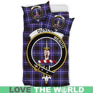 Dunlop Modern Clan Badge Tartan Bedding Set K7