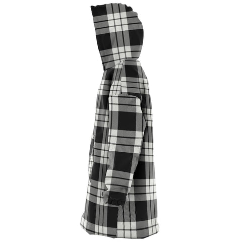 MacFarlane Black & White Ancient Snug Hoodie - Unisex Tartan Plaid Left