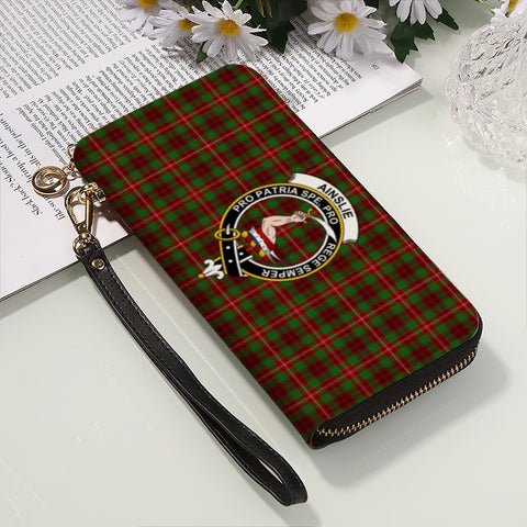 Image of AINSLIE TARTAN CLAN BADGE ZIPPER WALLET HJ4