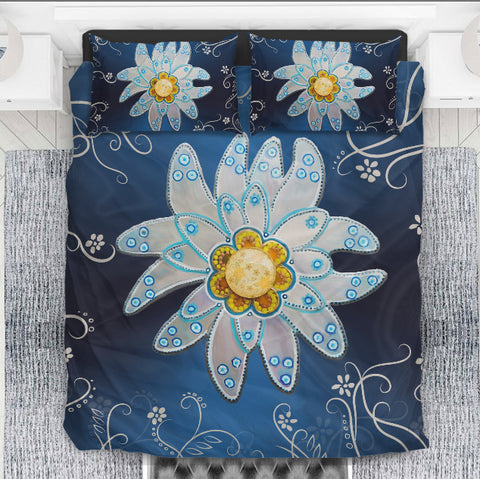 Image of Edelweiss art of swiss bedding set - edelweiss, swiss bedding set, switzerland symbols, duvet covers, online shopping, home set