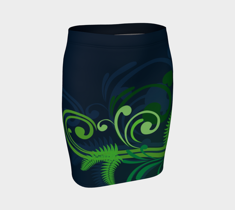 New Zealand Fern Fitted Skirt A9 |Women's Clothing| 1sttheworld