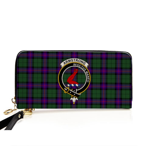 Image of AMSTRONG  TARTAN CLAN BADGE ZIPPER WALLET HJ4