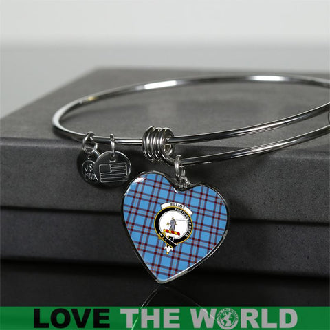 Elliot Ancient Tartan Silver Bangle - Sd1 Luxury Bangle (Silver) Jewelries