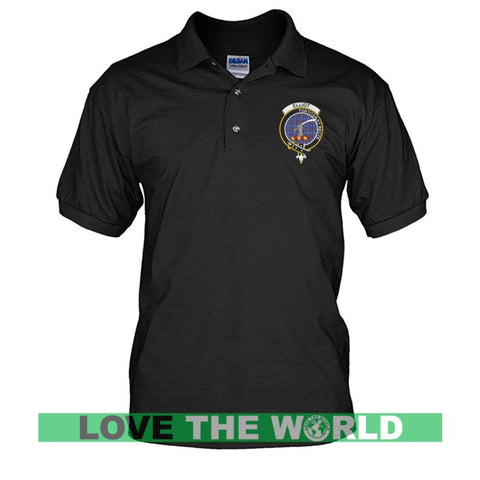 Elliot Badge Men Tartan Polo Shirt | Over 300 Clans Tartan | Special Custom Design | Love Scotland
