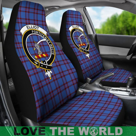 Elliot Clan Badges Tartan Car Seat Cover Ha5
