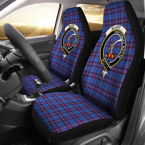 Elliot Tartan Car Seat Cover - Clan Badge