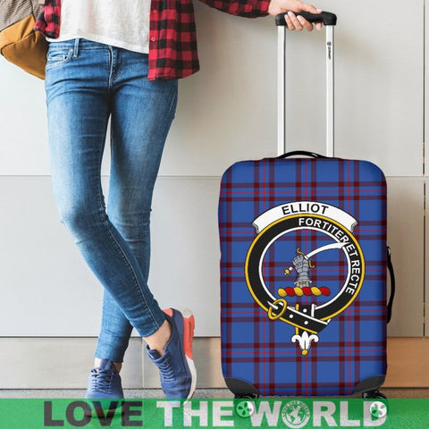 Elliot Tartan Clan Badge Luggage Cover Hj4 | Love The World