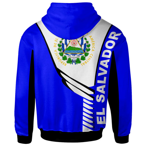 Image of El Salvador Custom Personalised Hoodie - Modern Style - BN20