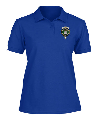 Image of Kincaid Badge Women Tartan Polo Shirt | Over 300 Clans Tartan | Special Custom Design | Love Scotland
