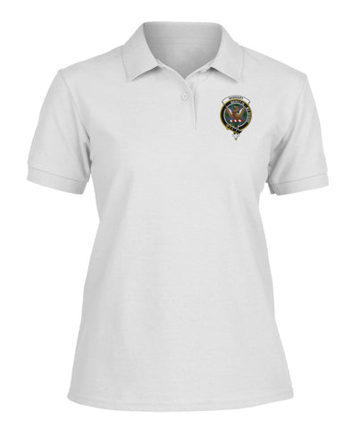Wishart Badge Women Tartan Polo Shirt | Over 300 Clans Tartan | Special Custom Design | Love Scotland
