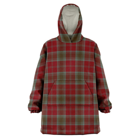 Image of Lindsay Weathered Snug Hoodie - Unisex Tartan Plaid Front