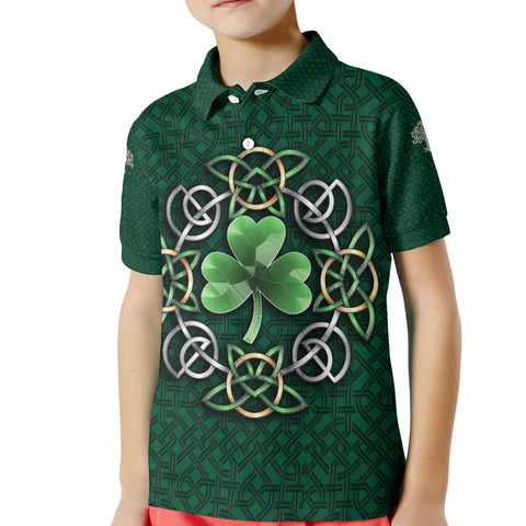 Image of Celtic Kid Polo Shirt - Ireland Celtic Shamrock - BN21