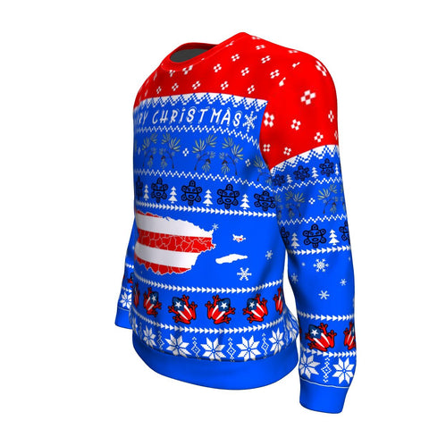 Puerto Rico Christmas Sweatshirt - Map TH5
