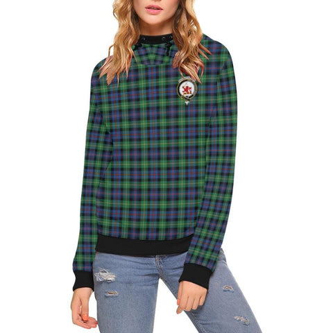 Farquharson Ancient Tartan Clan Badge High Neck  Hoodie - Sd |Clothing| 1sttheworld
