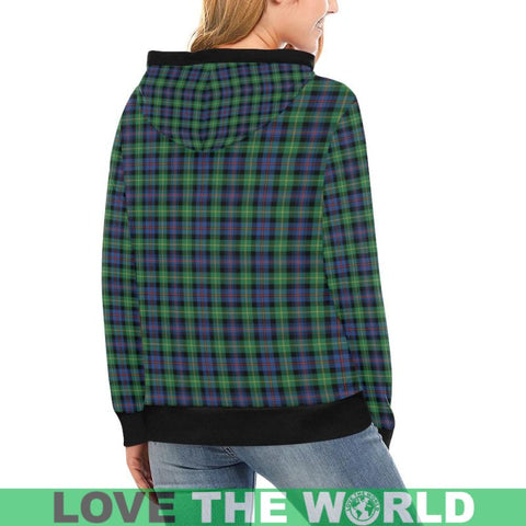 Image of Farquharson Ancient Tartan High Neck  Hoodie - Sd |Clothing| 1sttheworld