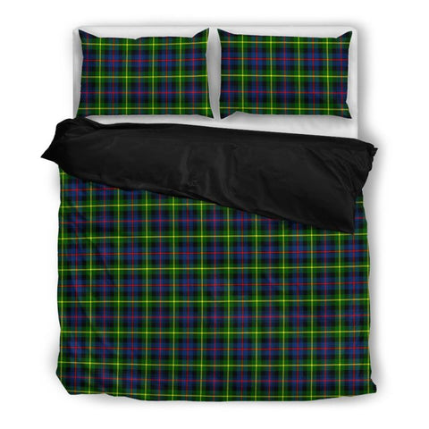 Image of Farquharson Modern Tartan Bedding Set Nl25 Bedding Set - Black / Twin Sets