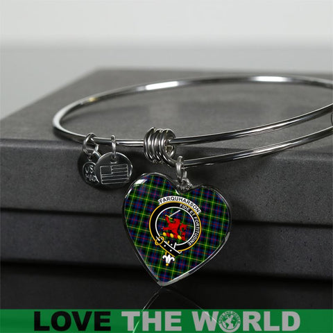 Farquharson Tartan Silver Bangle - Sd1 Jewelries