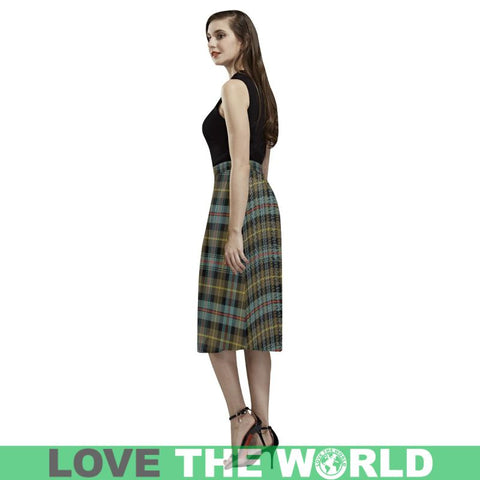 Image of Farquharson Weathered Tartan Aoede Crepe Skirt Ha6 Skirts