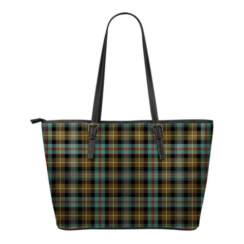 Farquharson Weathered Tartan Small Leather Tote Bag Nl25 Totes