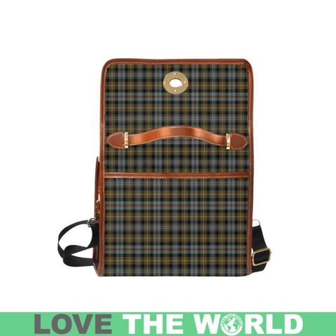 Image of Farquharson Weathered Tartan Canvas Bag | Waterproof Bag | Scottish Bag