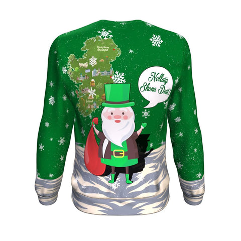 Image of Ireland Sweatshirt Christmas Nollaig Shona Duit A7