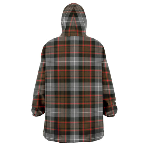 MacRae Hunting Weathered Snug Hoodie - Unisex Tartan Plaid Back