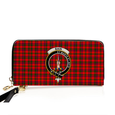 BAIN TARTAN CLAN BADGE ZIPPER WALLET HJ4