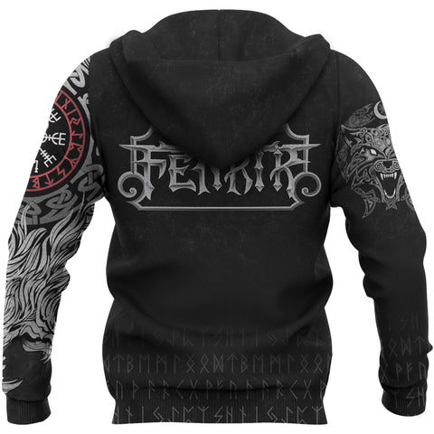 Image of Vikings Zipper Hoodie Fenrir A7