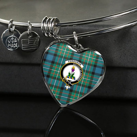 Image of Ferguson Ancient Tartan Silver Bangle - Sd1 Luxury Bangle (Silver) Jewelries