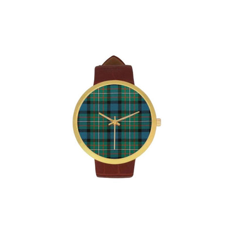Ferguson Ancient Tartan Watch Ha8 One Size / Golden Leather Strap Watch Luxury Watches