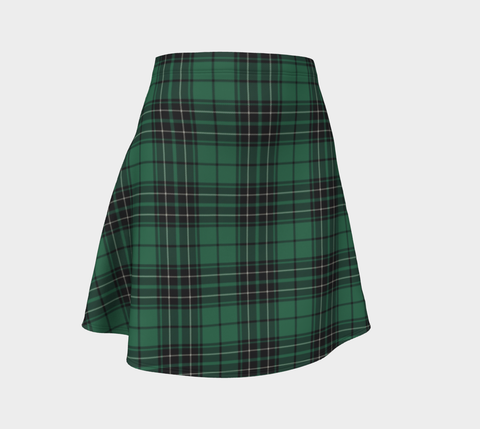 Tartan Skirt - Maclean Hunting Ancient Women Flared Skirt A9 |Clothing| 1sttheworld