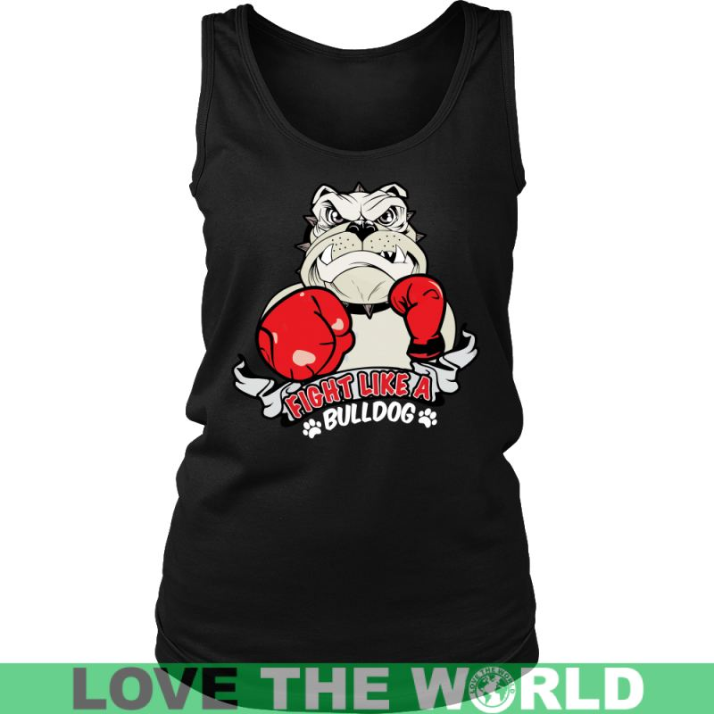 Fight Like A Bulldog V5 Gildan Womens T-Shirt / Black S T-Shirts