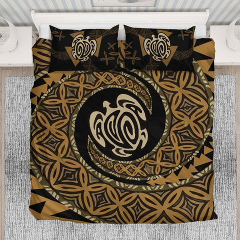 Image of Tapa Honu Turtle Fiji Bedding Set - King size