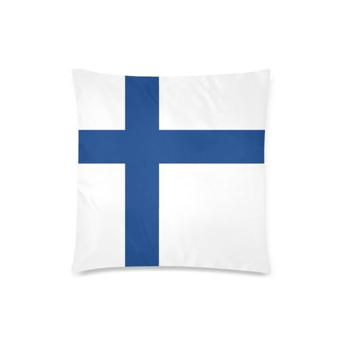 Finland Flag Zippered Pillow Cover O4 One Size / Finland Flag 1 Custom Zippered Pillow Case