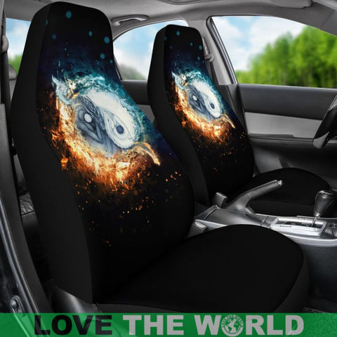Image Of Fire And Ice Dragon Car Seat Covers