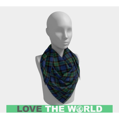 Fletcher Ancient Tartan Square Scarf F1 Scarfs