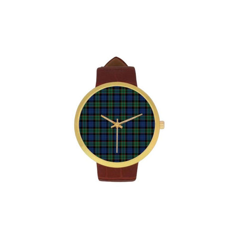 Fletcher Ancient Tartan Watch Ha8 One Size / Golden Leather Strap Watch Luxury Watches